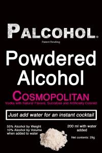 Palcohol Label. Cosmopolitan.