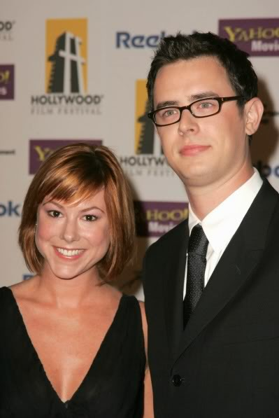 Colin Hanks with Samantha Hanks. Hair Make Up & Grooming by Victor Lomeli