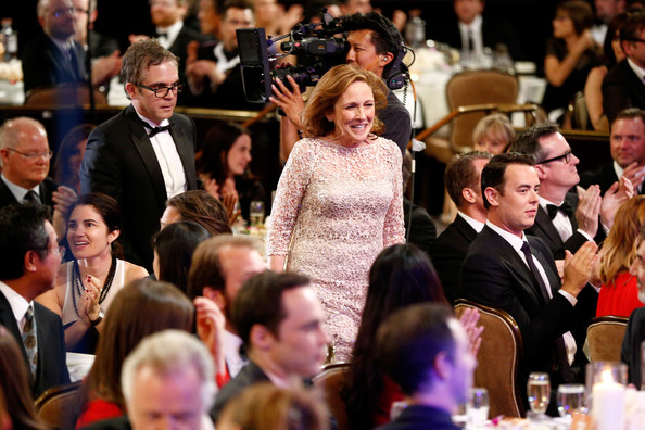 Ann Druyan at the Annual Critics Choice Awards wins for THE COSMOS. Hair and Make Up Victor Lomeli